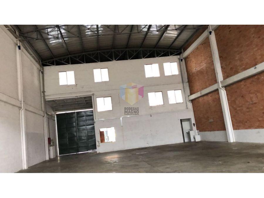 bodega arriendo la estrella 780 m2 parque industrial medellin