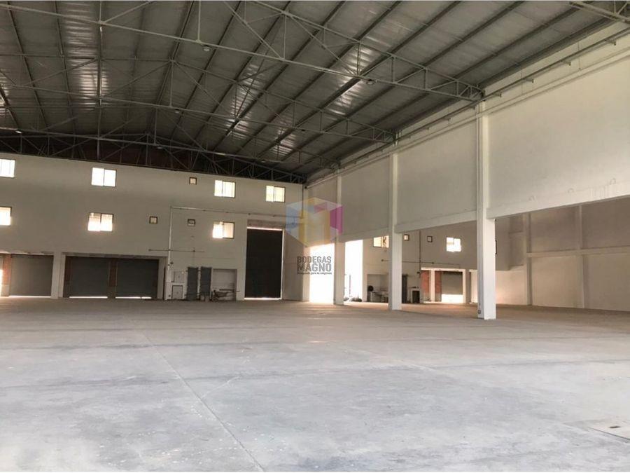 bodega arriendo la tablaza 2535 m2 parque industrial medellin