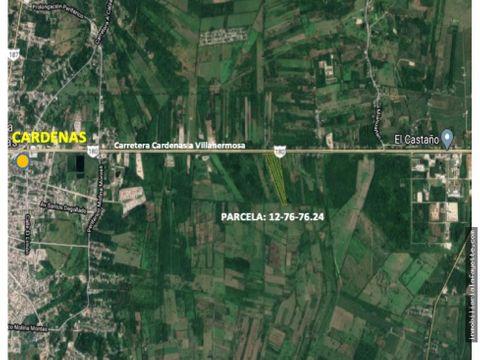 terrenos sobre carretera cardenas a villahermosa