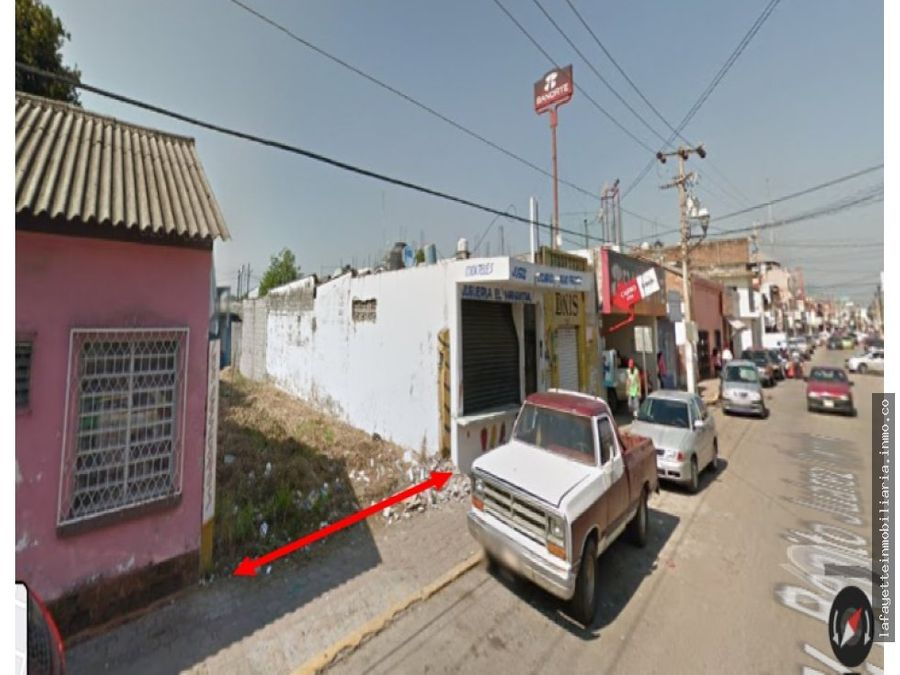 terreno en renta entre calle juarez y zaragoza