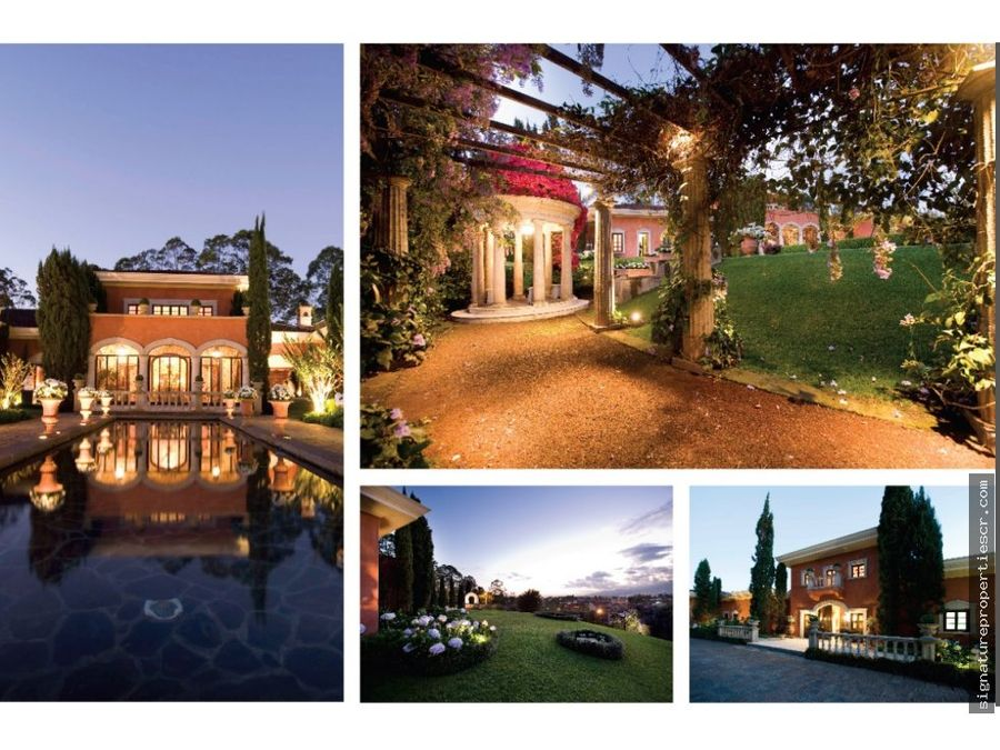mansion de lujo con amplio terreno en pinares
