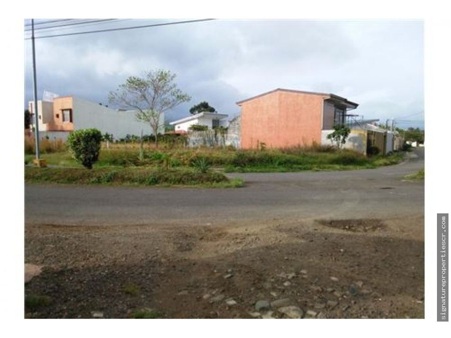 lote en residencial privadosanto domingo heredia