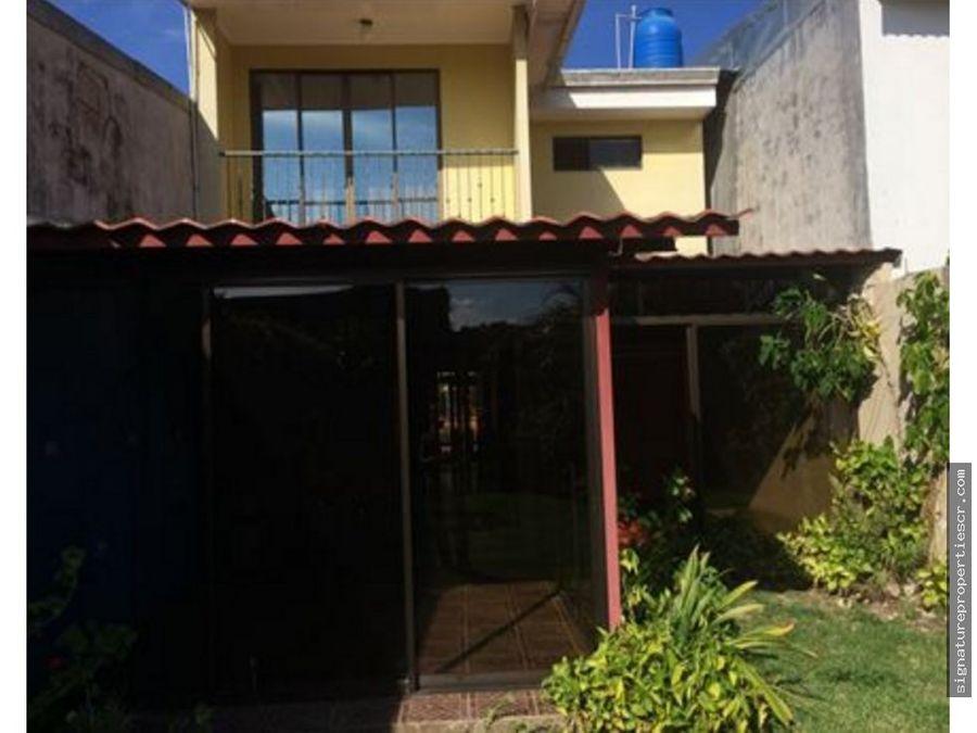 casa de 2 niveles 3 dormitorios paraiso cartago