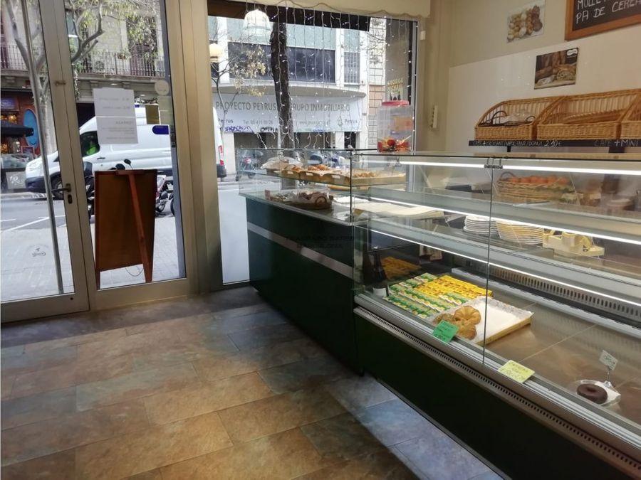 traspaso panaderia cafeteria obrador eixample