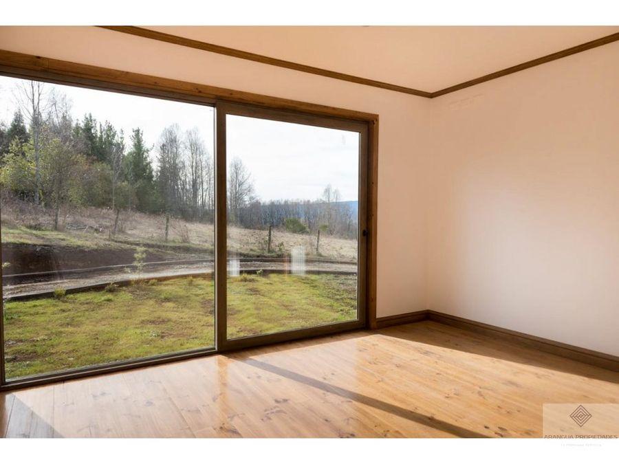 casa en parcela en venta en villarrica sector lefun camino v p