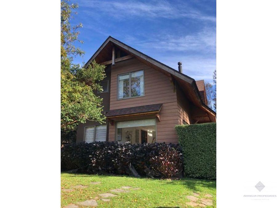 preciosa casa en venta en condominio en pucon sector antumalal