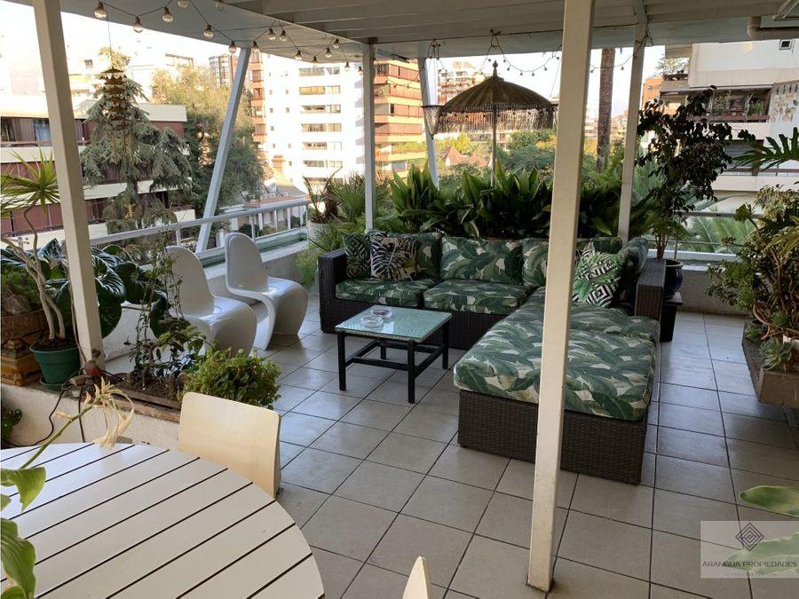 venta amplio departamento penthouse en providencia
