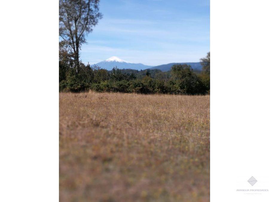 parcela en venta en villarrica vistas valle y volcan septima faja