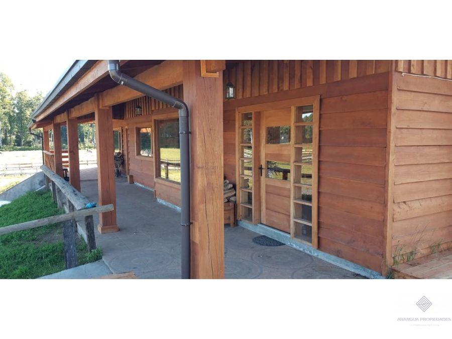 casa en parcela en venta en villarrica 6 kms de villarrica chucauco