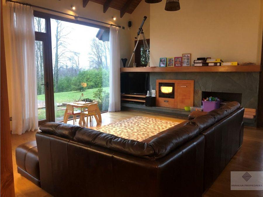preciosa casa en venta en parcela en villarrica sector los guindos