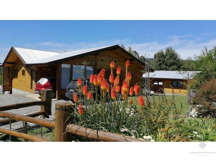 casa en venta en parcela a 10 mins de villarrica con vista al volcan
