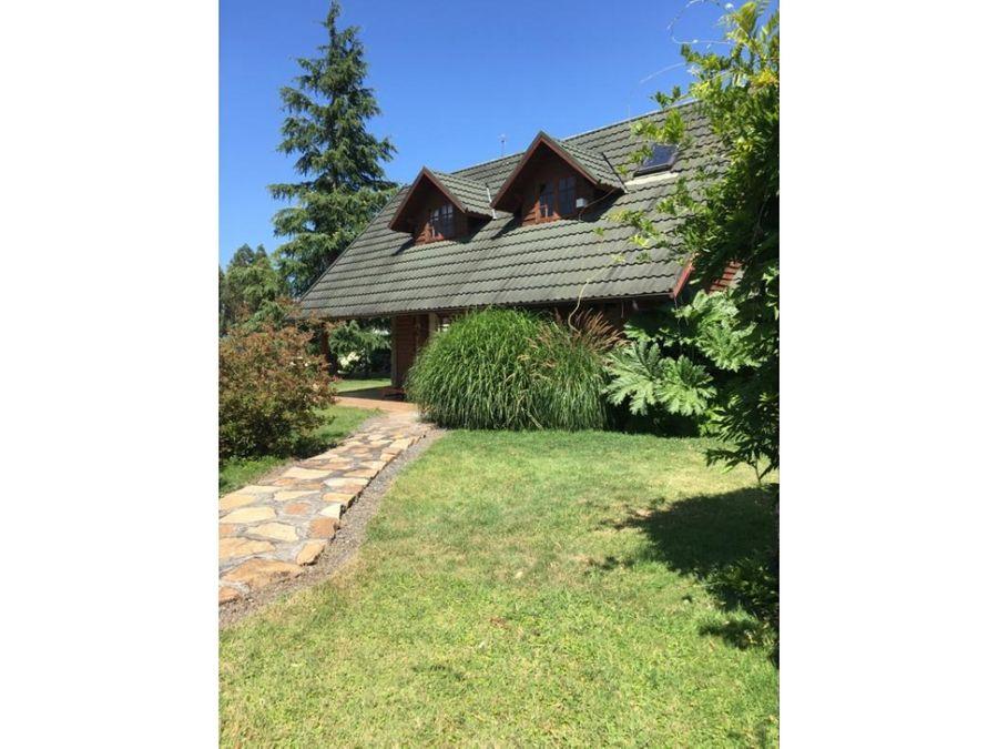 hermosa casa en venta en parcela a 35 mins de villarrica
