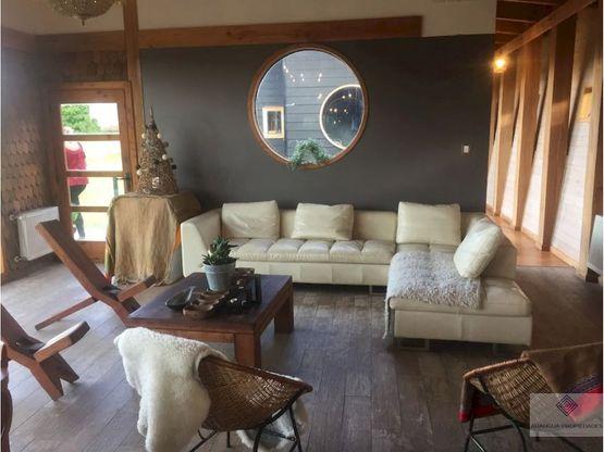 casa en parcela en venta en pucon a 8 kms de pucon vista al lago