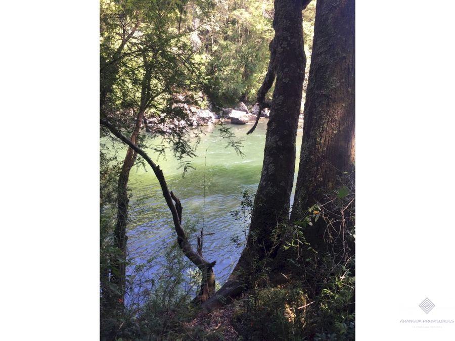 maravillosas parcelas en pucon con acceso a orilla del rio trancura