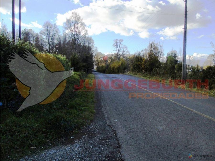casa en parcela en venta en villarrica km 8 villarrica a pucon