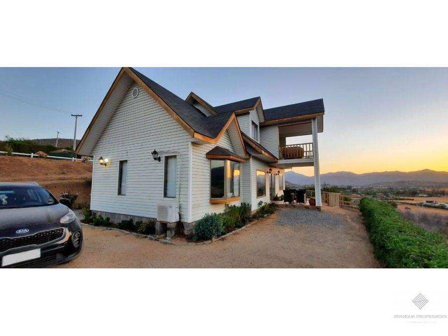 espectacular casa en venta en condominio a 5 kms de curacavi