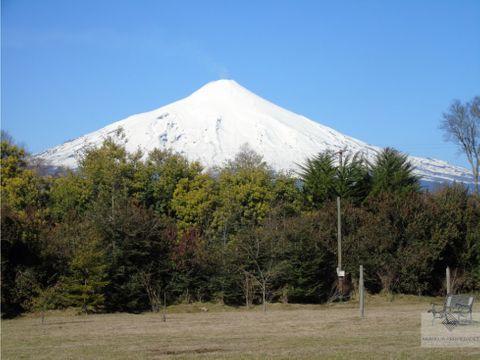 linda parcela en venta con vista al volcan en villarrica