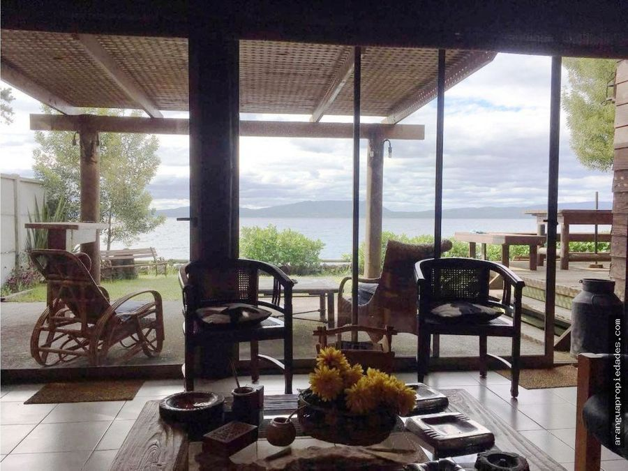 casa en venta en villarrica frente playa linda
