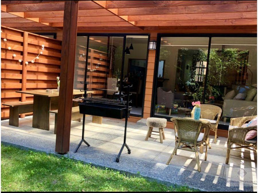 preciosa casa en venta en condominio en pucon camino internacional