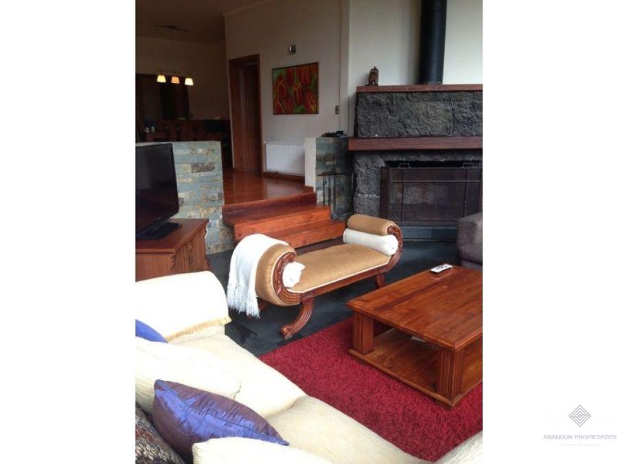 por temporada hermosa casa en arriendo en pucon sector metrenehue