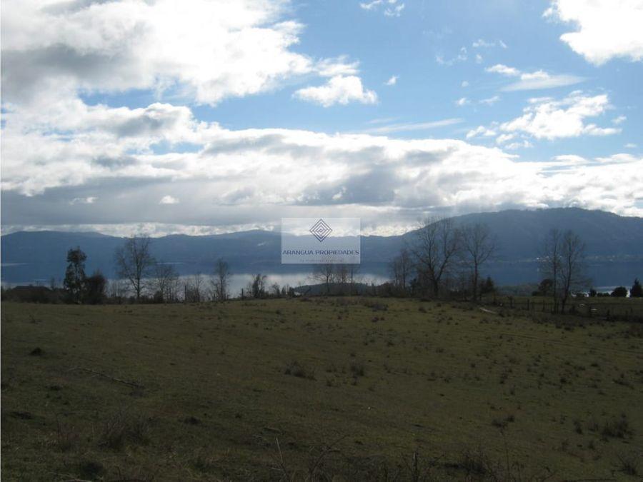campo en venta en calafquen vista lago y playa