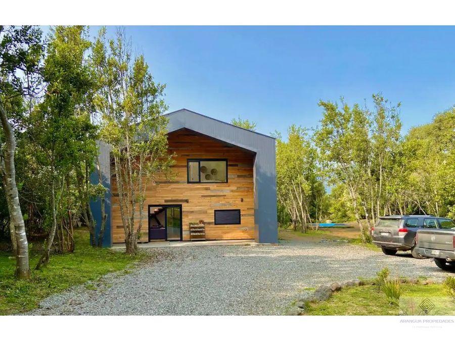 maravillosa casa en venta en pucon camino al volcan