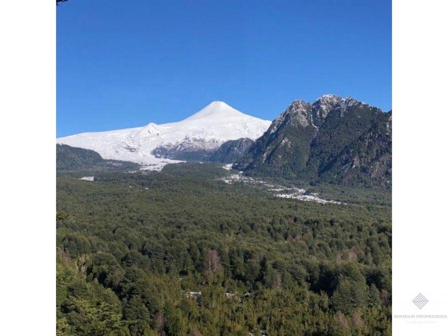 preciosas parcelas en venta a 15 kms de pucon con vista al volcan