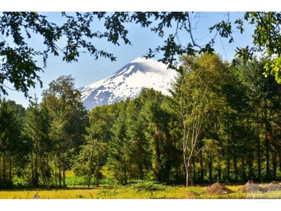 espectaculares parcelas en venta en pucon con vista al volcan
