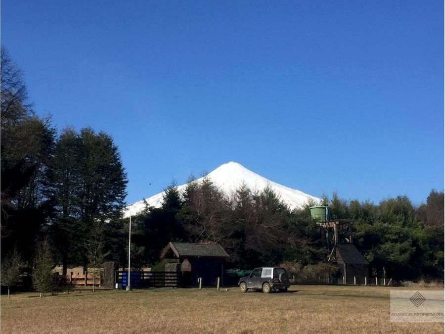 espectacular parcela en venta en pucon vista lago y volcan
