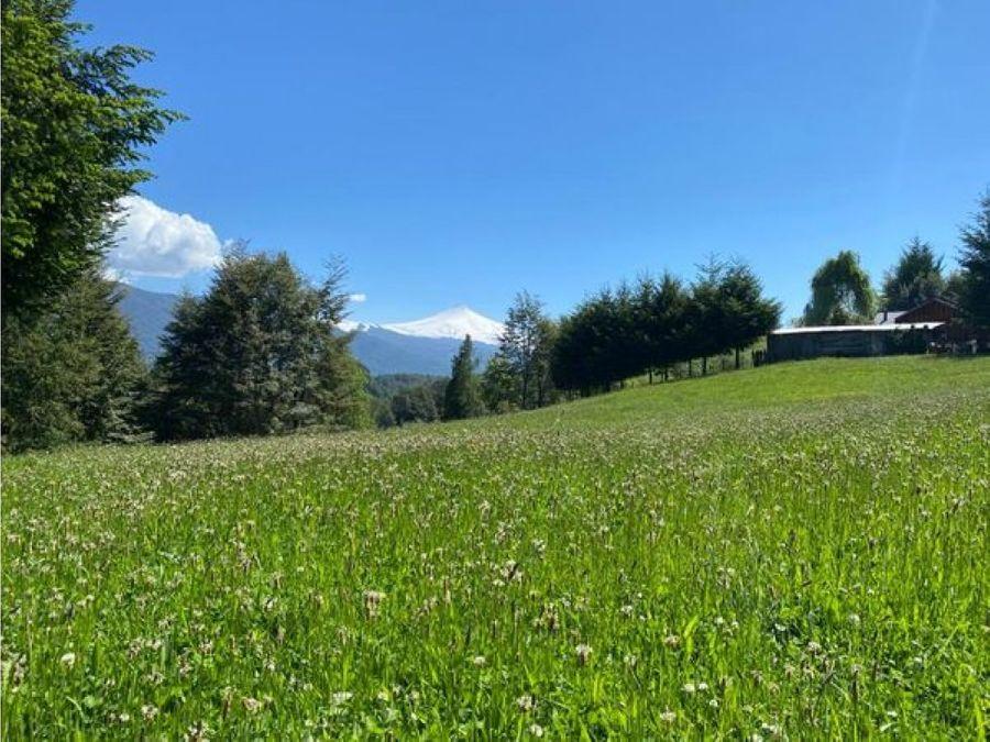 hermoso campo en venta en pucon sector laguna ancapulli