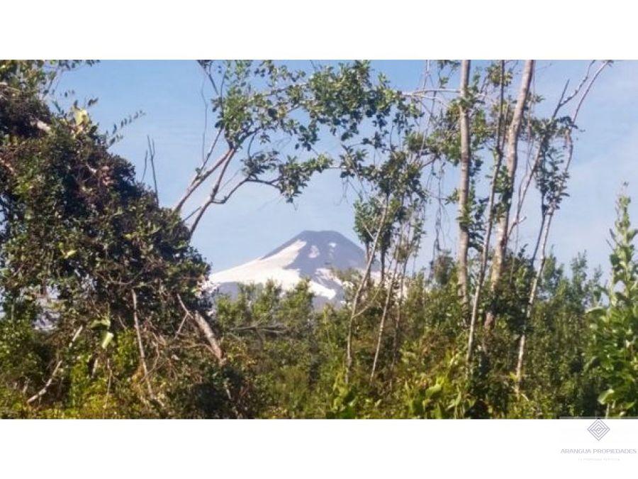 hermosas parcelas en venta en pucon con vista al volcan