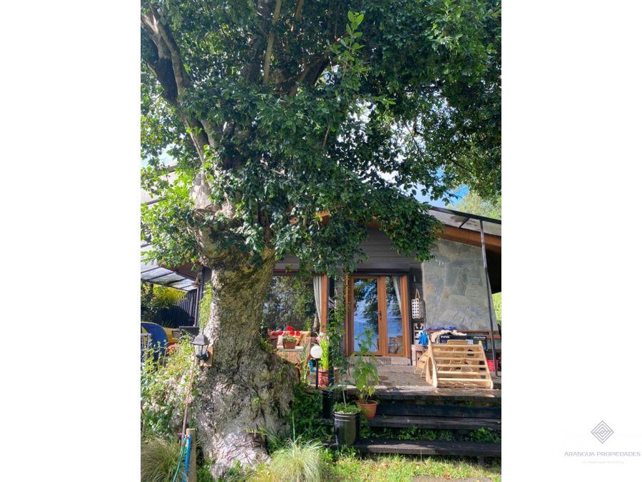 espectacular casa en venta en villarrica con salida al lago