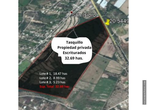 venta de terreno municipio de tasquillohgo