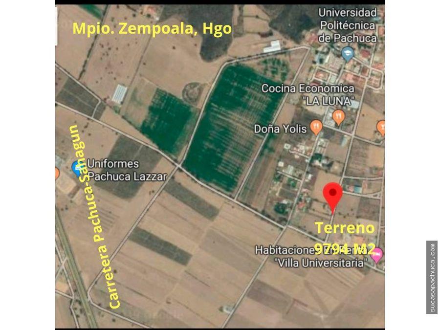 venta de terreno mpio zempolahgo
