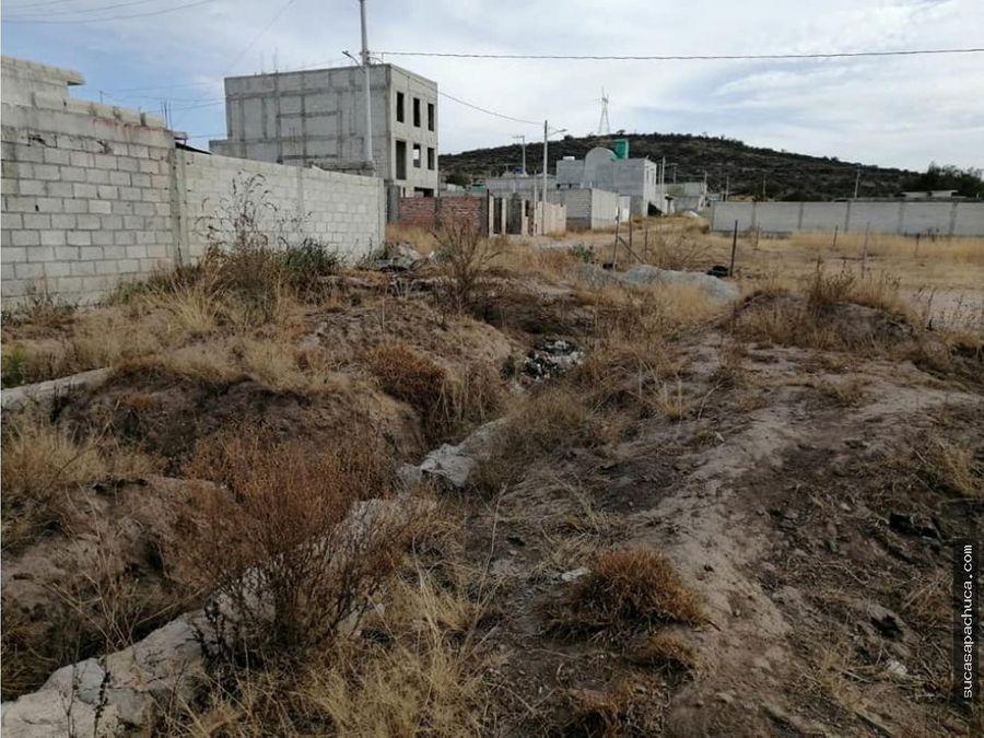 terreno urbano en la entrada de pachuca
