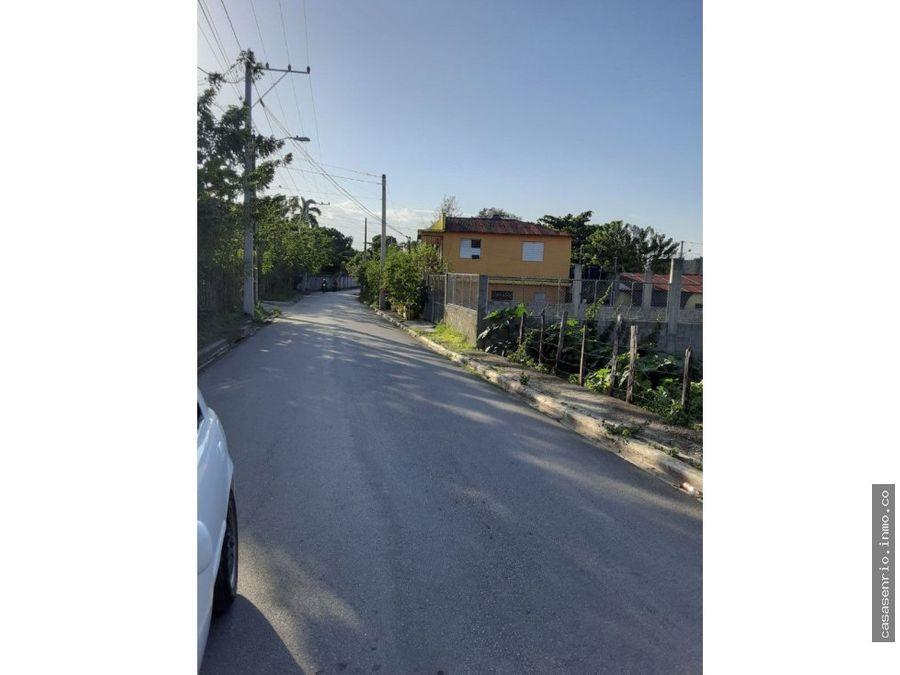 terreno de 440 metros en barrio hospital de rio san juan