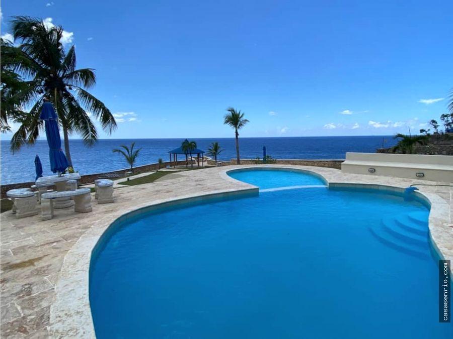 villa bianca ocean front villa for rent in rio san juan playa grande