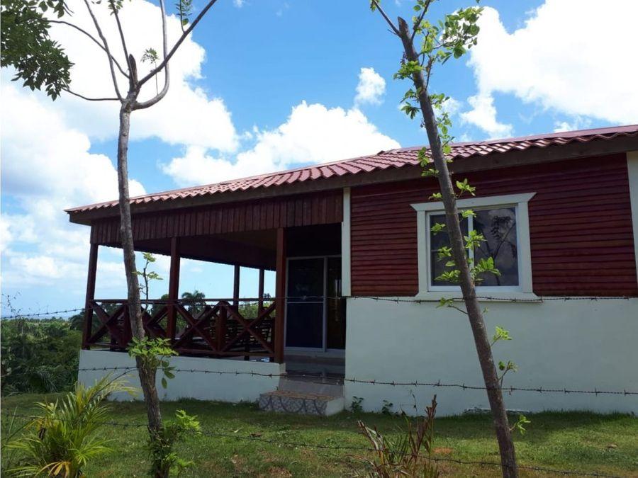 casa en el campo en alquiler con vista al mar en rio san juan