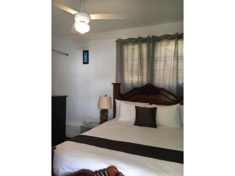 apartamento de 1 habitacion amueblado en renta en rio san juan