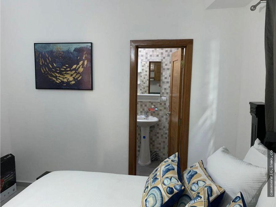 apartamento de 1 habitacion frente a la playa en rio san juan
