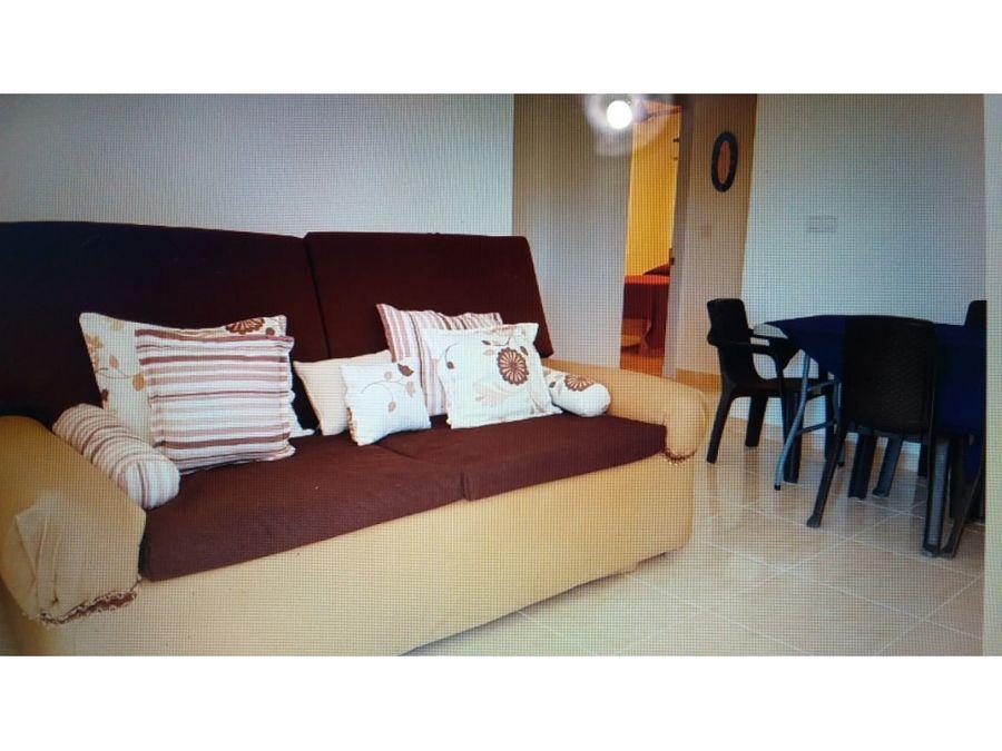 apartamento de 2 hab en alquiler en rio san juan con acceso a piscina