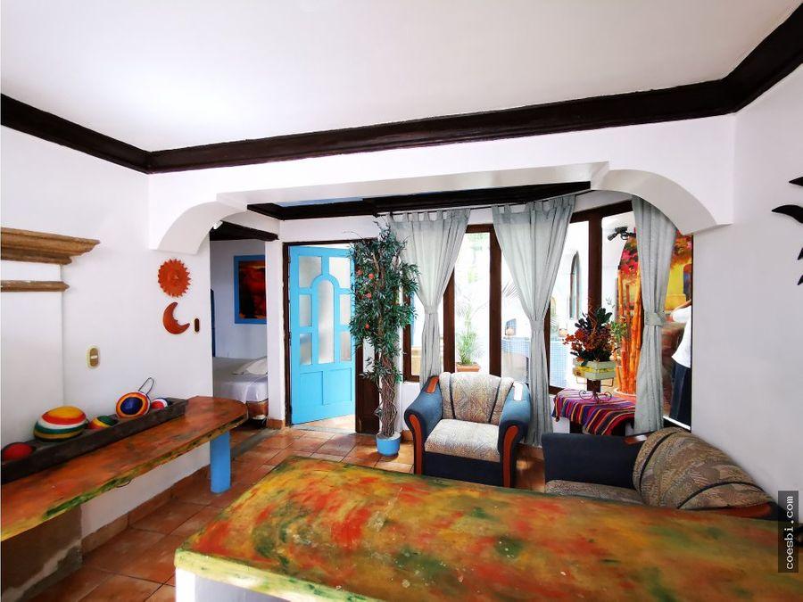 apartamento a dos cuadras de la merced en antigua gt