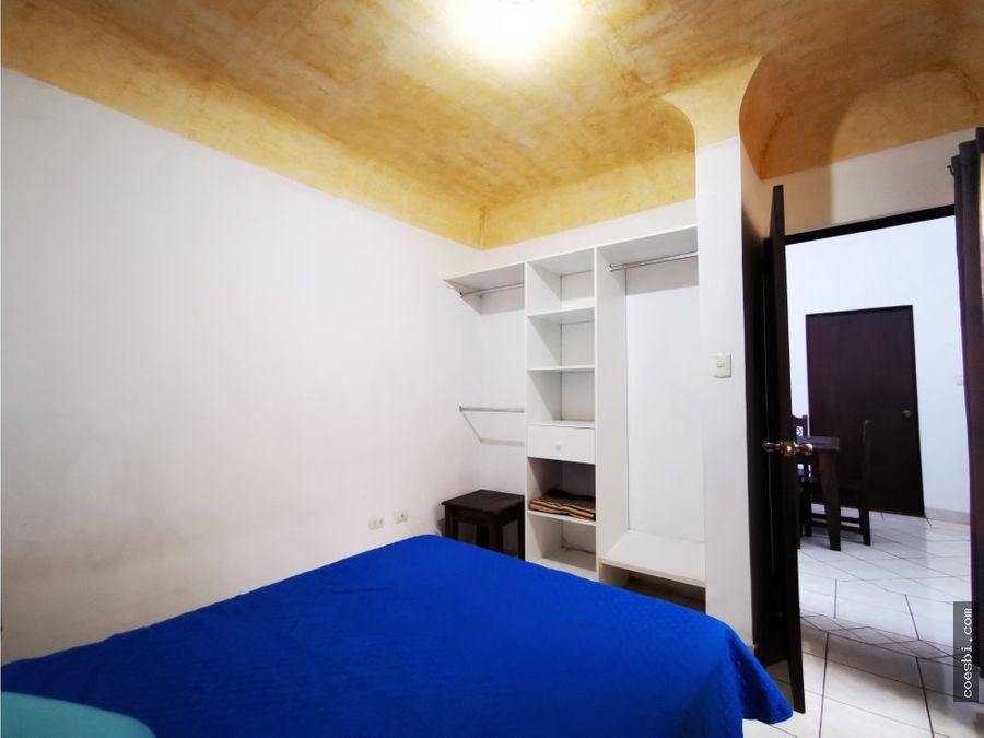 se renta apartamento de 1 habitacion en san bartolome bec antigua gt