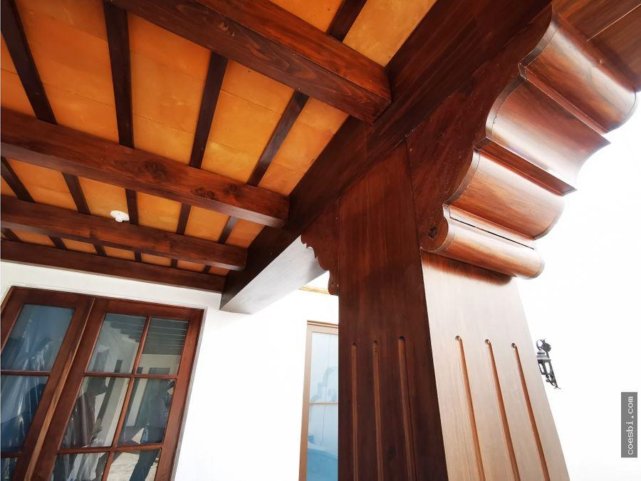 casa grande de dos niveles en san pedro el panorama antigua