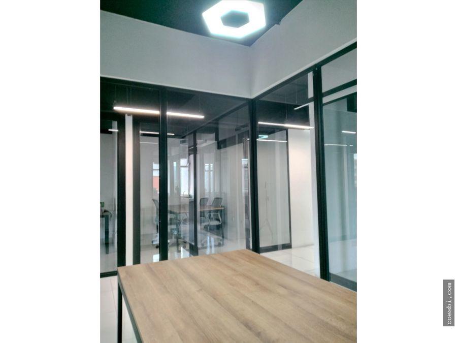 en renta oficina privada en el edificio reforma montufar z10