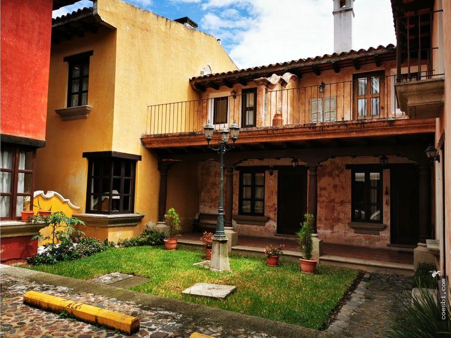 apartamento en alquiler dentro de residencial en antigua guatemala