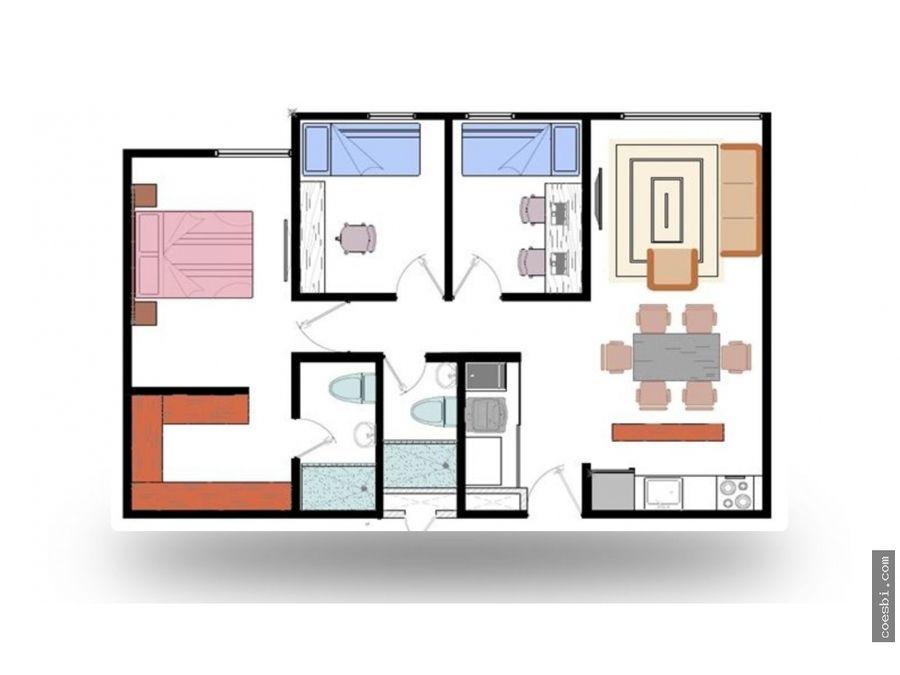 en renta apartamento de 3 habitaciones en residencial los olivos z18