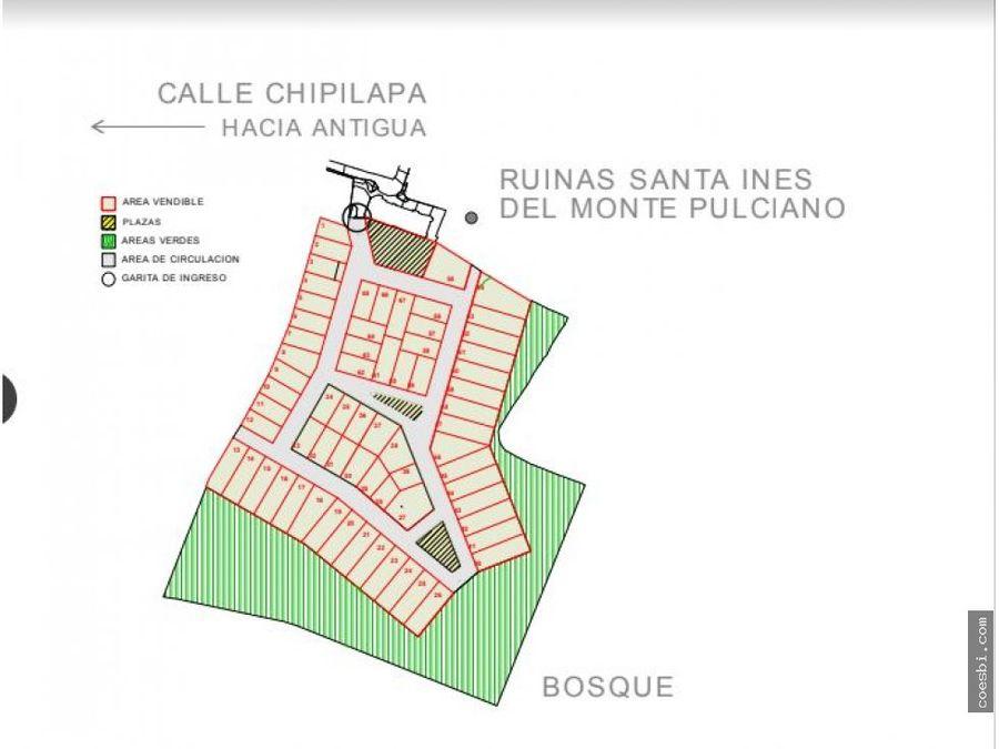 terreno disponible en el condominio casco del cerro antigua gt