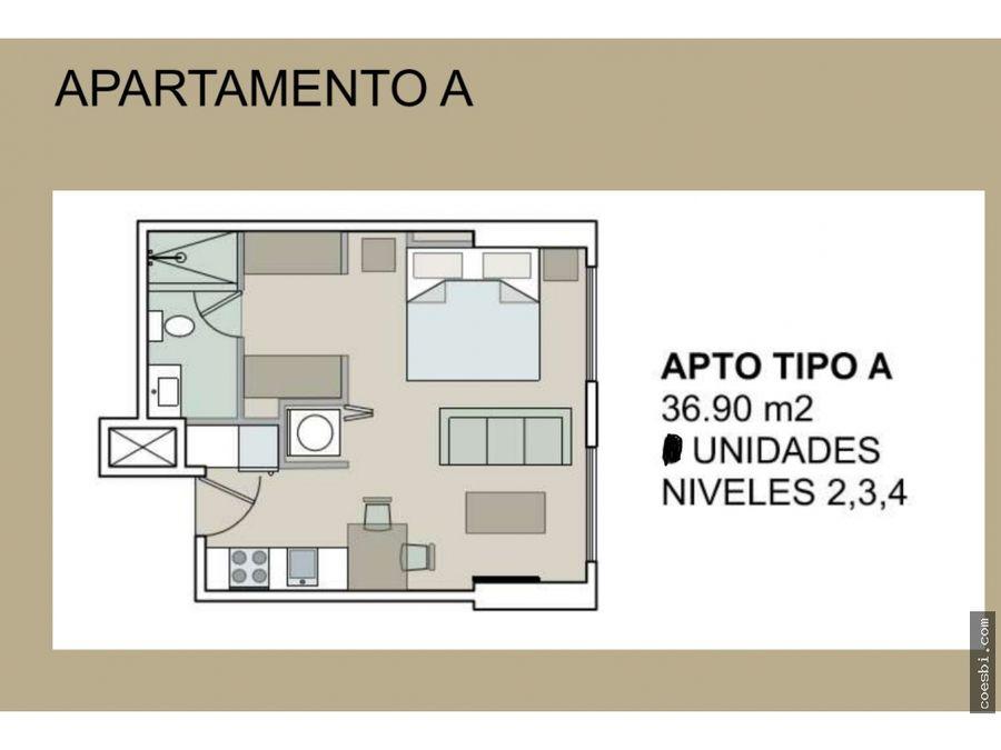 apartamentos disponibles en el edificio meraki en zona 14 tipo a