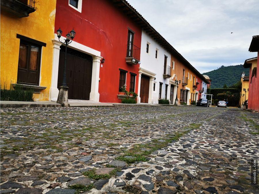 en renta apartamento dentro de residencial en antigua guatemala